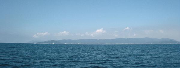 海より見る沼隈半島