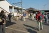 神辺駅前にて会長の挨拶