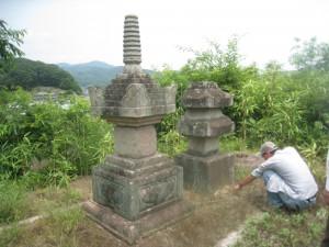 吉備津神社裏宝篋印塔