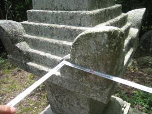 世羅町日南宝篋印塔測定