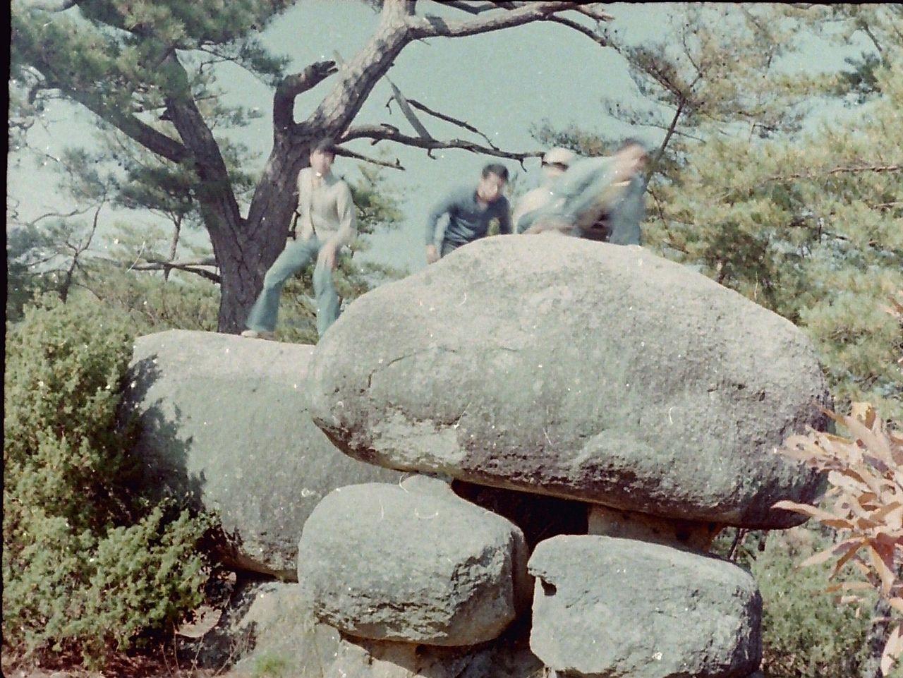 天神山城巨石