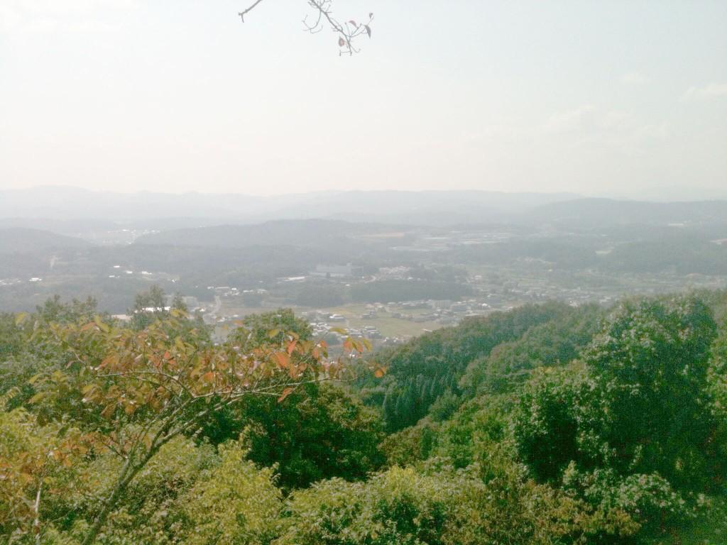 岩屋寺から見た三次市街