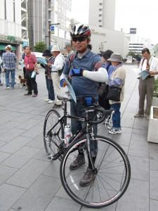 自転車で参加の方