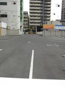 ここの駐車場の幅が入川の幅。 一同「広~~い」と感嘆の声。