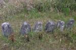 薬師端薬師堂そばの小米石(結晶石灰岩)製寺蔵墓