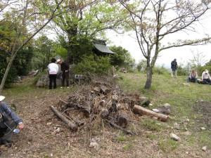 風雲の鷲尾山城と木梨杉原氏盛衰の跡を訪ねて10