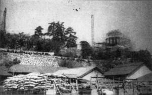 再建中の福山城