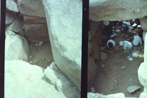 発掘中の迫山1号古墳