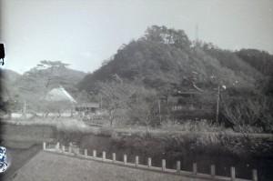 1970年の熊野水源地と一乗山城跡