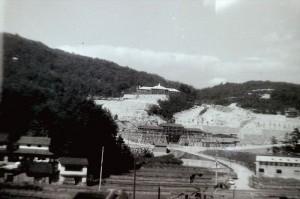 1970年の工事中の赤坂遊園