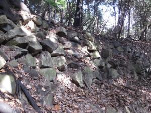 銀山城石垣