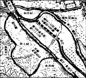 慶長六年・福島検地 推定草戸村半坂・千軒中州高