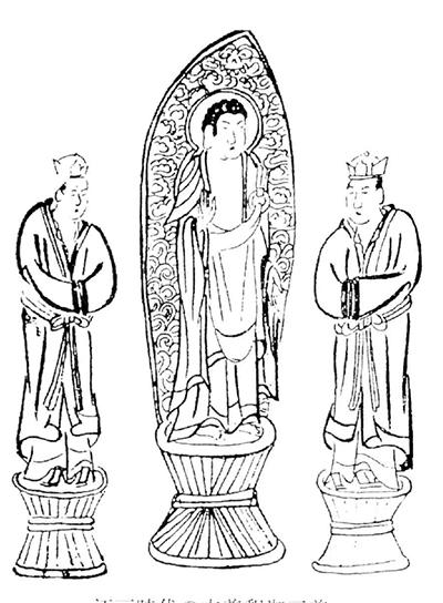 江戸時代の本釈迦三尊像