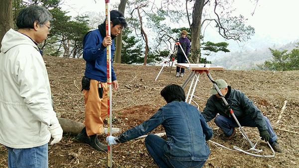 銀山城跡測量調査