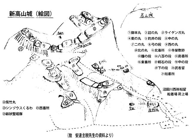 新高山城(絵図)