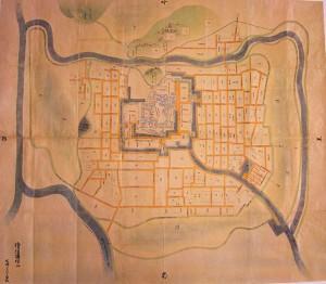 福山城下最古の絵図(正保絵図)