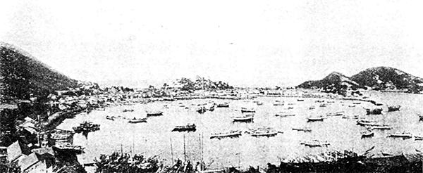 明治時代の鞆港 中央鞆城跡 沼名前神社由来記