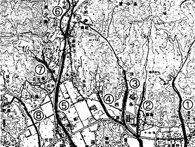 神辺中条(旧中条村)を流れる川