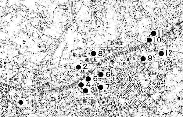 福山市東部の史跡