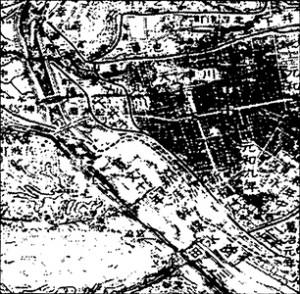 「福山市史」中巻福山の開発 草戸千軒中州寛文十年開発図