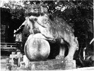八坂神社の狛犬(右)