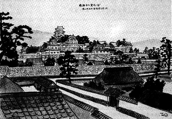 南西から見れば(福山城私的想像復元図)