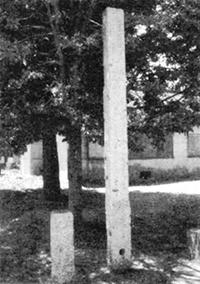 元砂堰の石柱