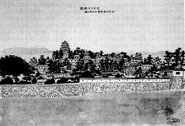 西側からだと(福山城私的想像復元図)