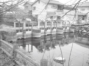 ④丸川分水場の水門は福山市土地改良区の管理下にある。