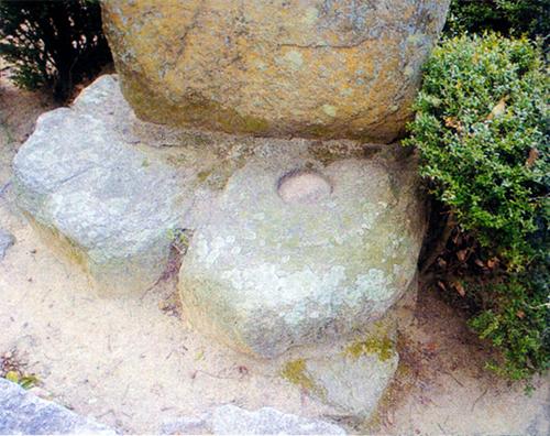 廃慶徳寺跡 塔の心礎