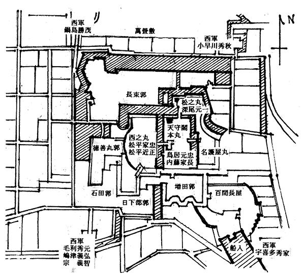 伏見城布陣図