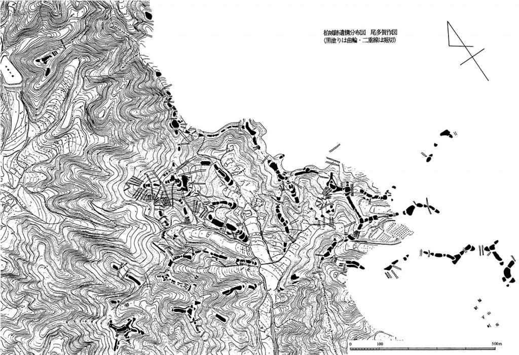 柏城跡遺構分布図