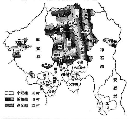 第8図 中津藩備後領の村組