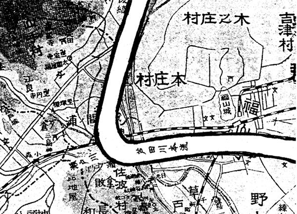 (推定・中世芦田川本流の水路)